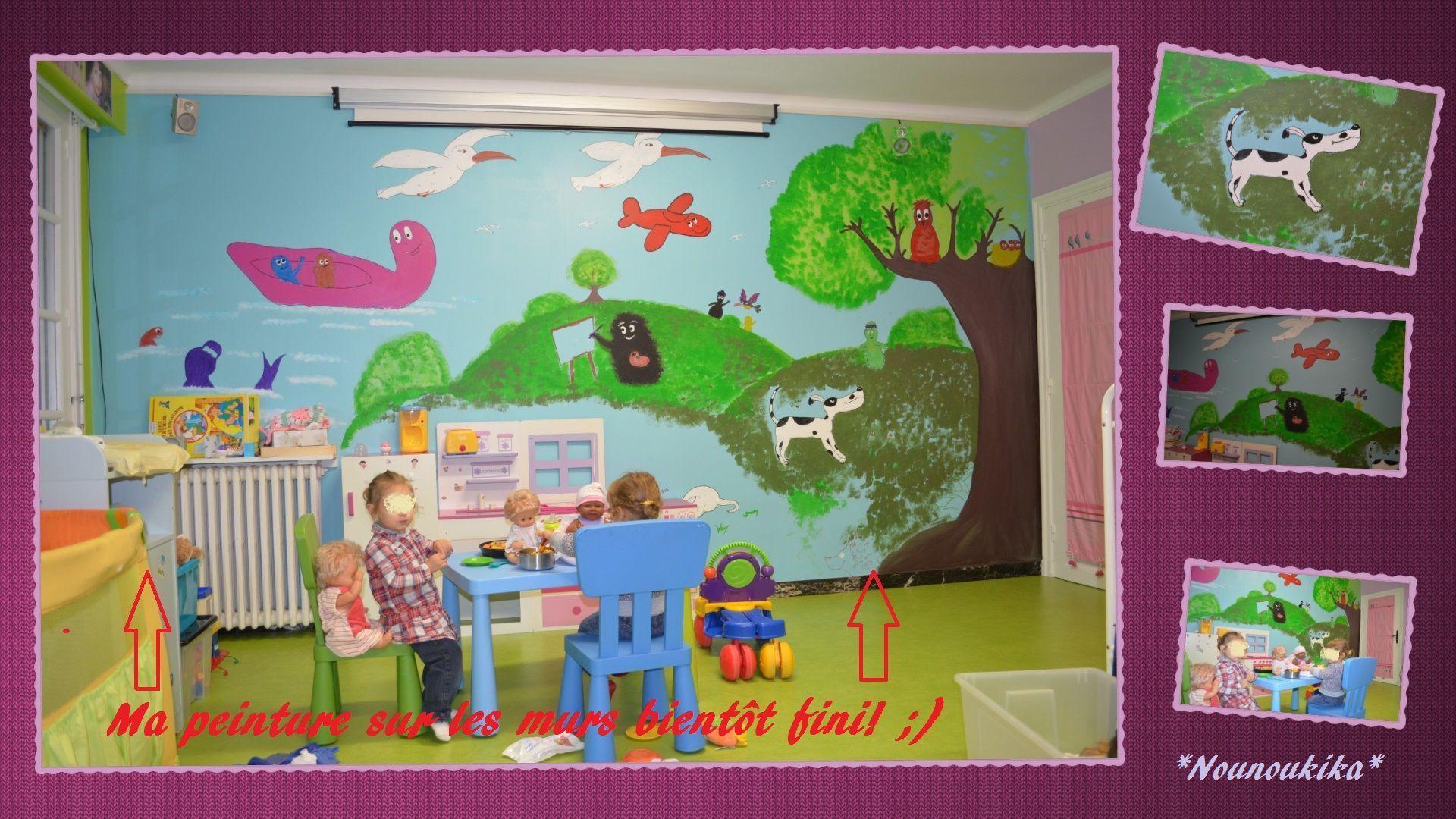 Peinture de la salle de jeux bientot fini for Peinture boiro jeu deffet